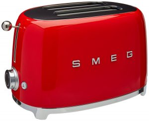 Smeg 2 Slice Red Toaster